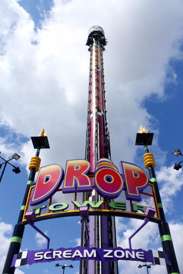 Drop zone tower