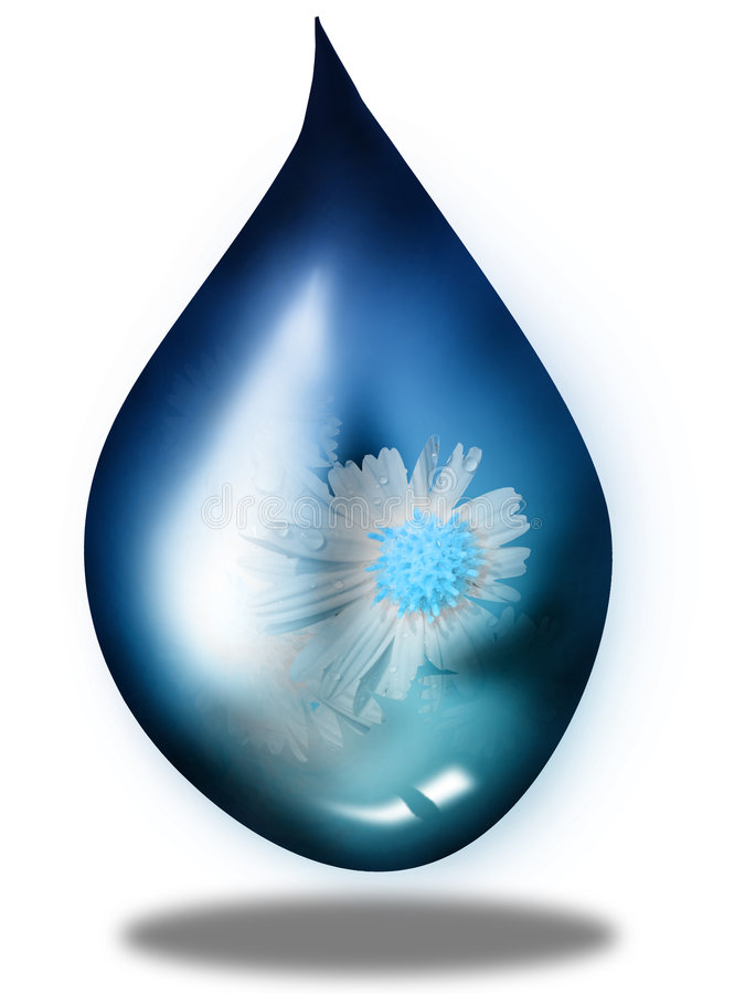 Droplet. The droplet which generated by photoshop with white background vector illustration