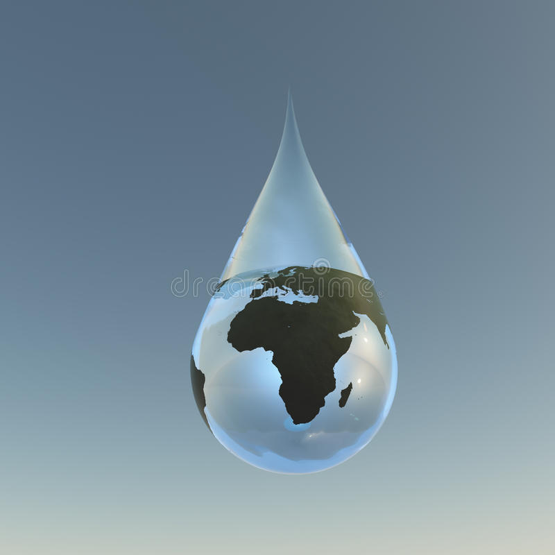 Droplet Africa royalty free illustration