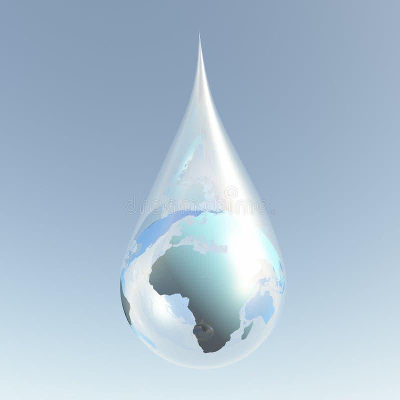 Droplet Africa stock illustration