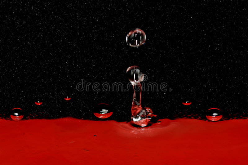 Droplets and stars stock image