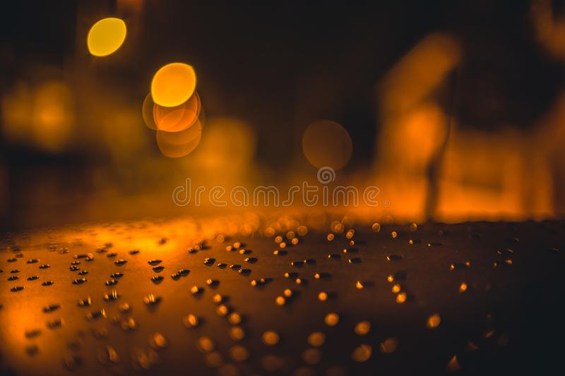 Droplets on surface stock image