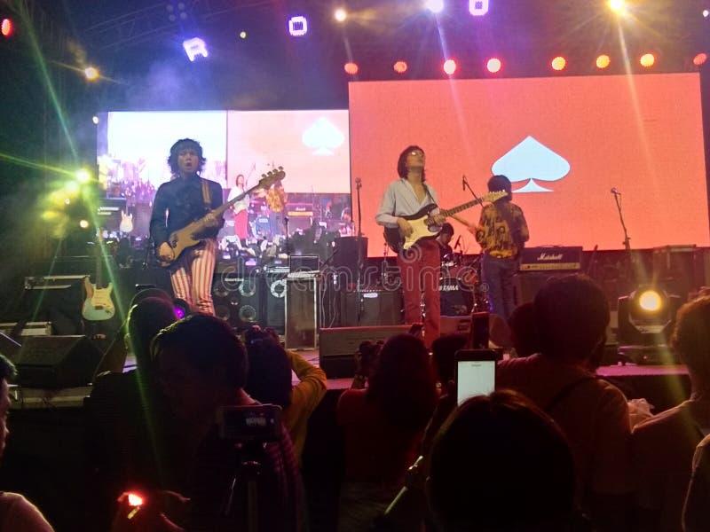 dropp av spademusikbandet i Filippinerna fotografering för bildbyråer