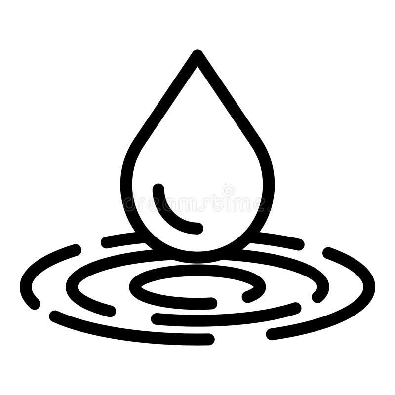 Dropp- och cirkelsymbol, översiktsstil royaltyfri illustrationer