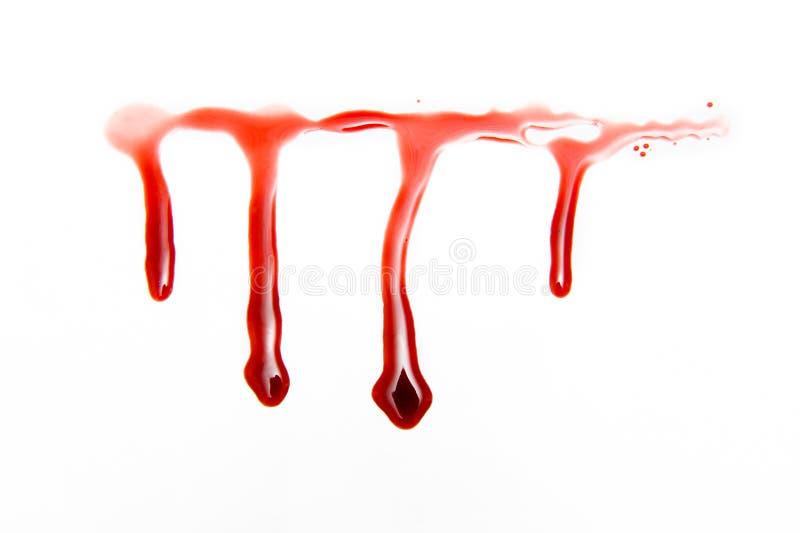 Droppar av blod royaltyfri fotografi