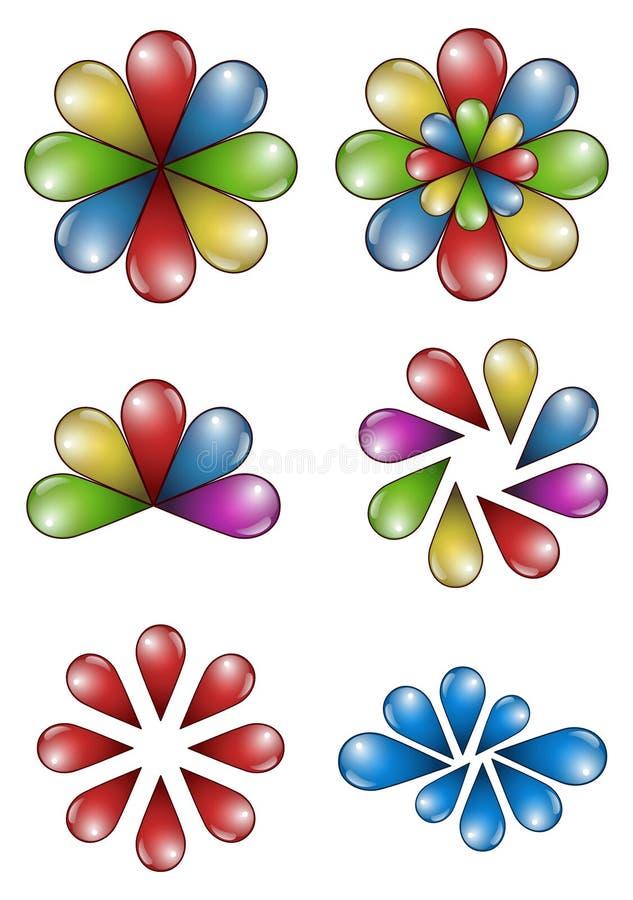droppblommor vektor illustrationer