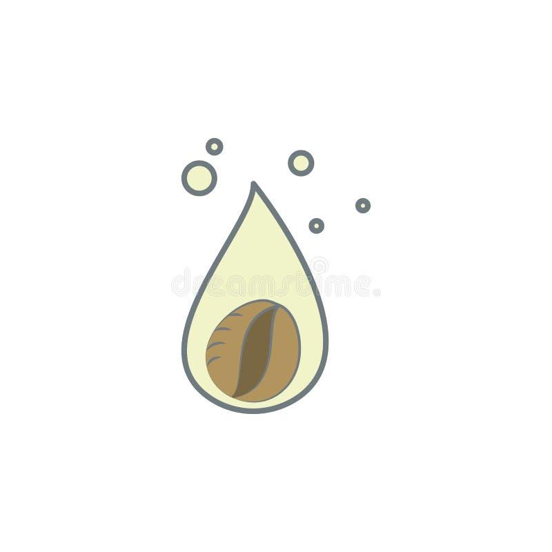 droppe av den kulöra symbolen för kaffe Beståndsdel av den kulöra kaffesymbolen för mobila begrepps- och rengöringsdukapps Färgdr stock illustrationer
