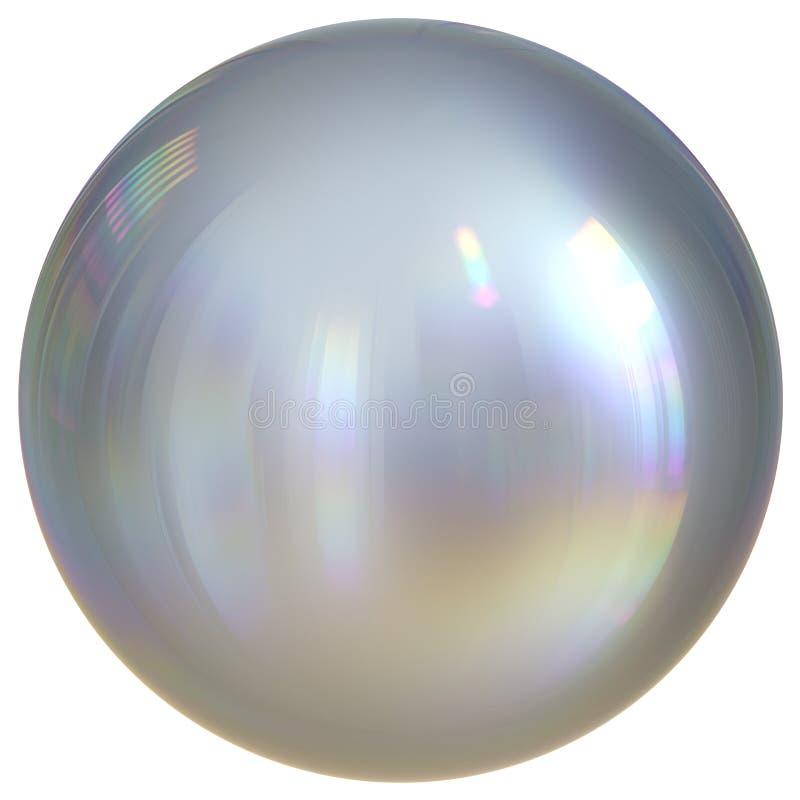 Droppe för cirkel för krom för knapp för runda för vit för bollsfärsilver grundläggande vektor illustrationer