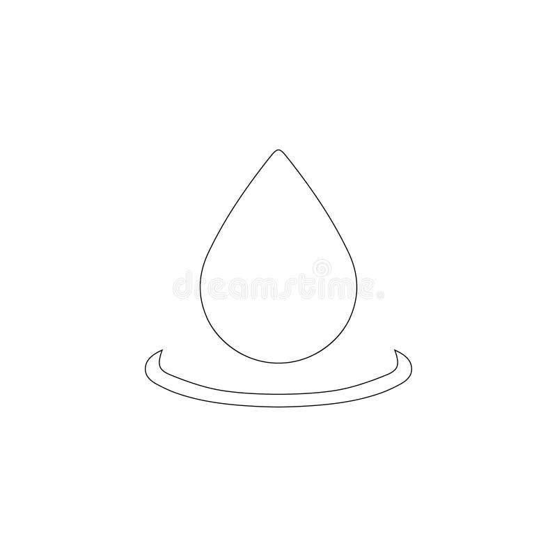 droppe Plan vektorsymbol stock illustrationer