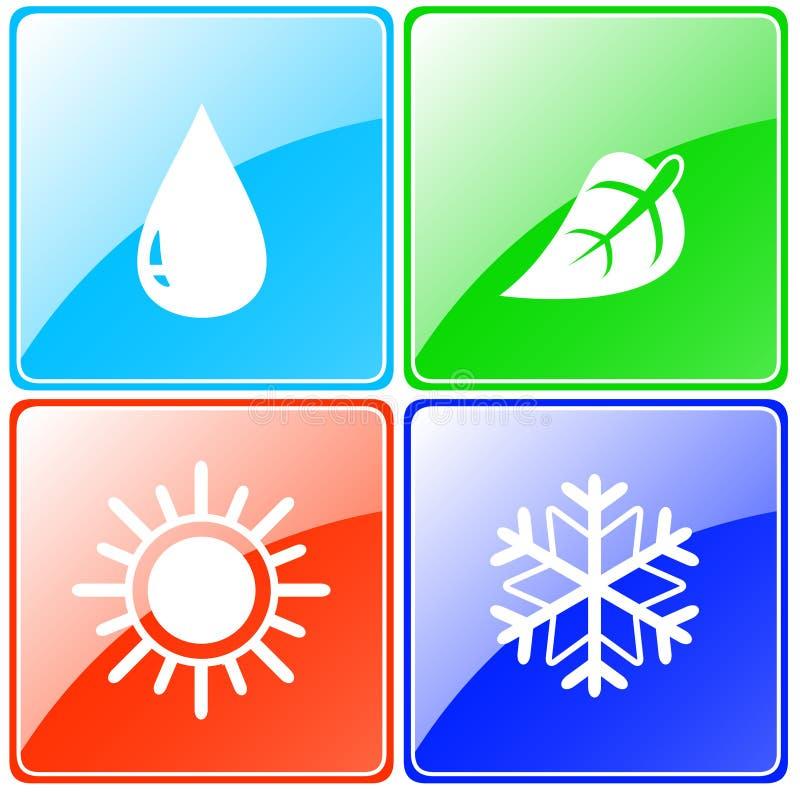 Download Droppe Sol, Snöflinga, Bladknapp Vektor Illustrationer - Illustration av design, fridfullt: 37348450