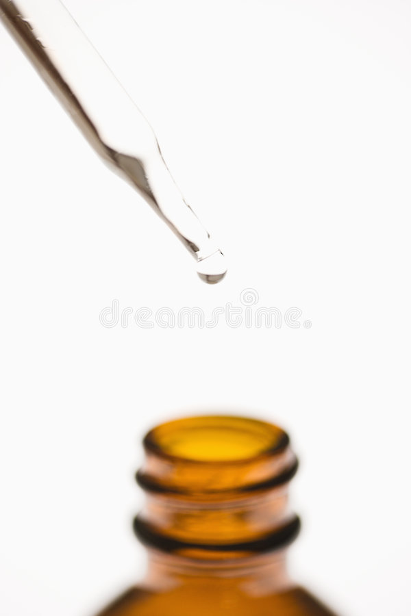 Dropper and bottle. royalty free stock images