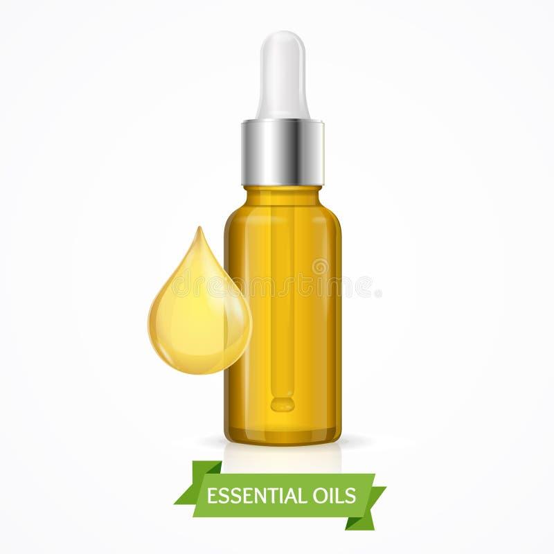 Dropper Essential Oil Bottle. Vector stock illustration
