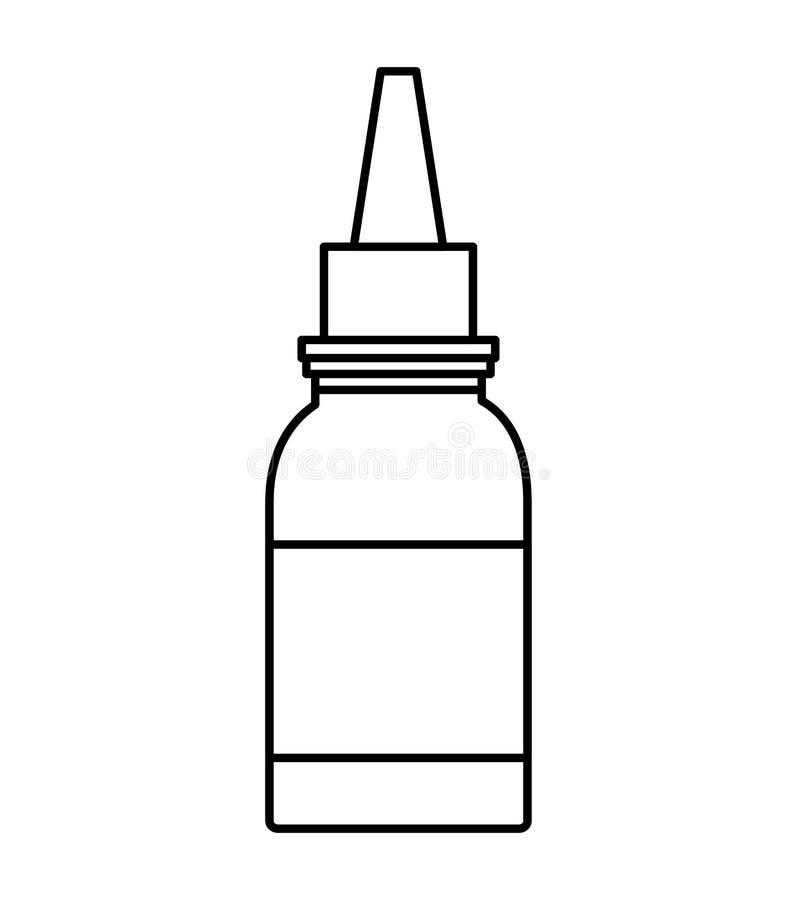 Droppglasssymbol Läkarundersökning och hälsovård som stylized swirlvektorn för bakgrund det dekorativa diagrammet vågr vektor illustrationer