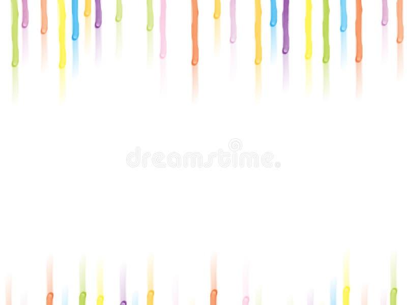 droppmålarfärg stock illustrationer