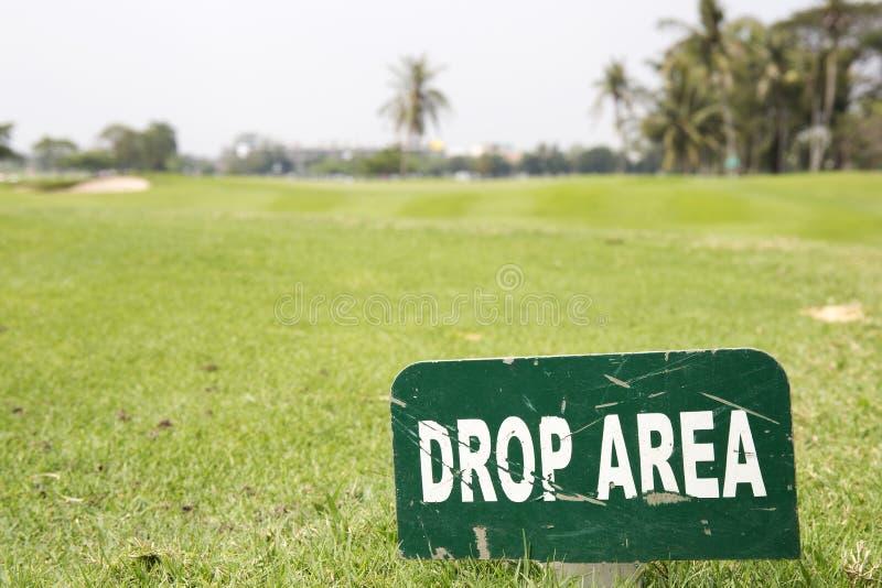 Droppområdestecken arkivbild