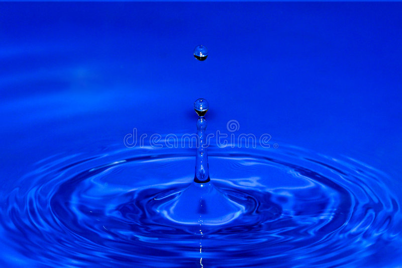 Drops in blue stock photos