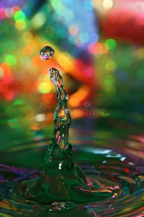Drops of colorful water
