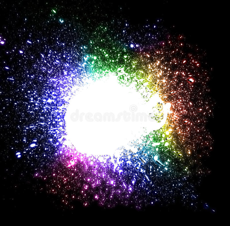 Download Drops Explosion Background With Rainbow Colours Stock Image - Image: 12449911
