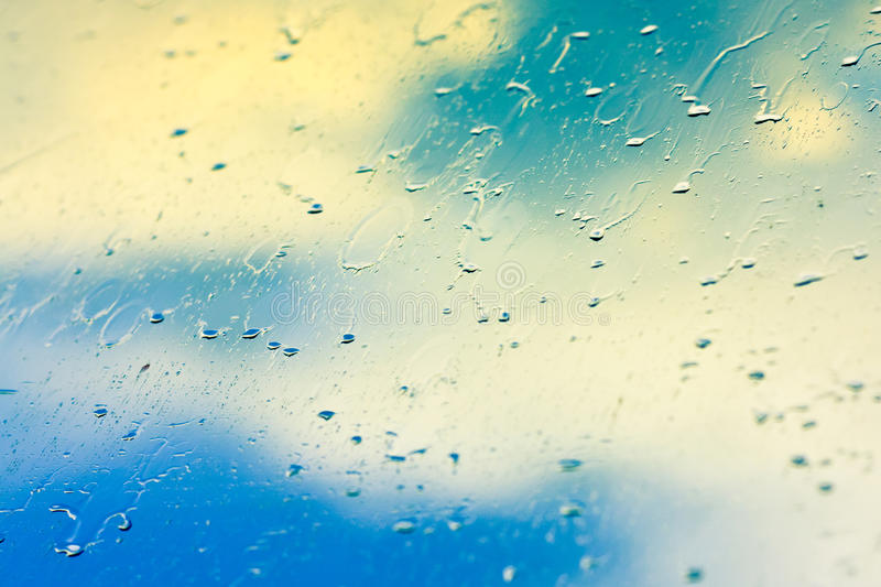 Drops On Glass After Rain Royalty Free Stock Photo