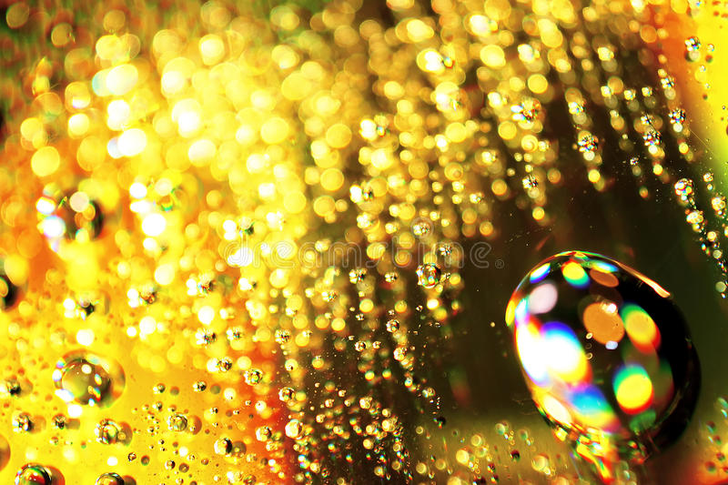 Drops of gold stock photography