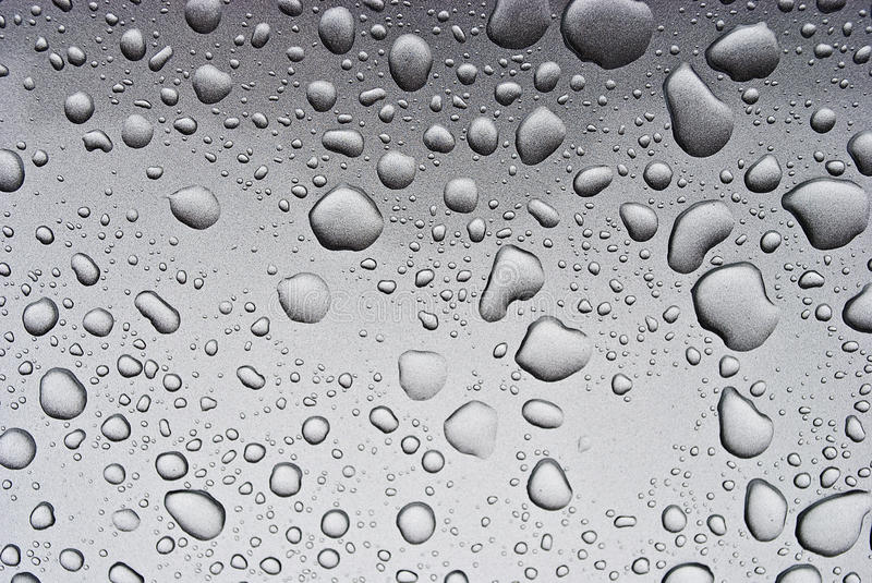 Download Drops on a grey background stock image. Image of background - 13027917