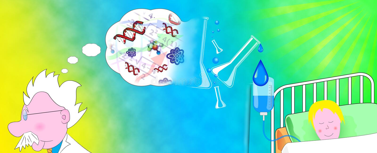 Download Drops of hope stock illustration. Image of science, sick - 4290000