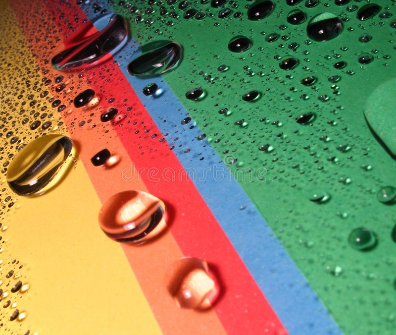 Free Drops On The Rainbow Stock Photos - 4099193