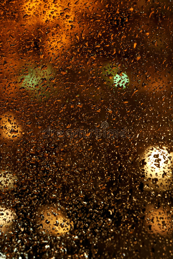 Drops of rain on the glass. royalty free stock photos