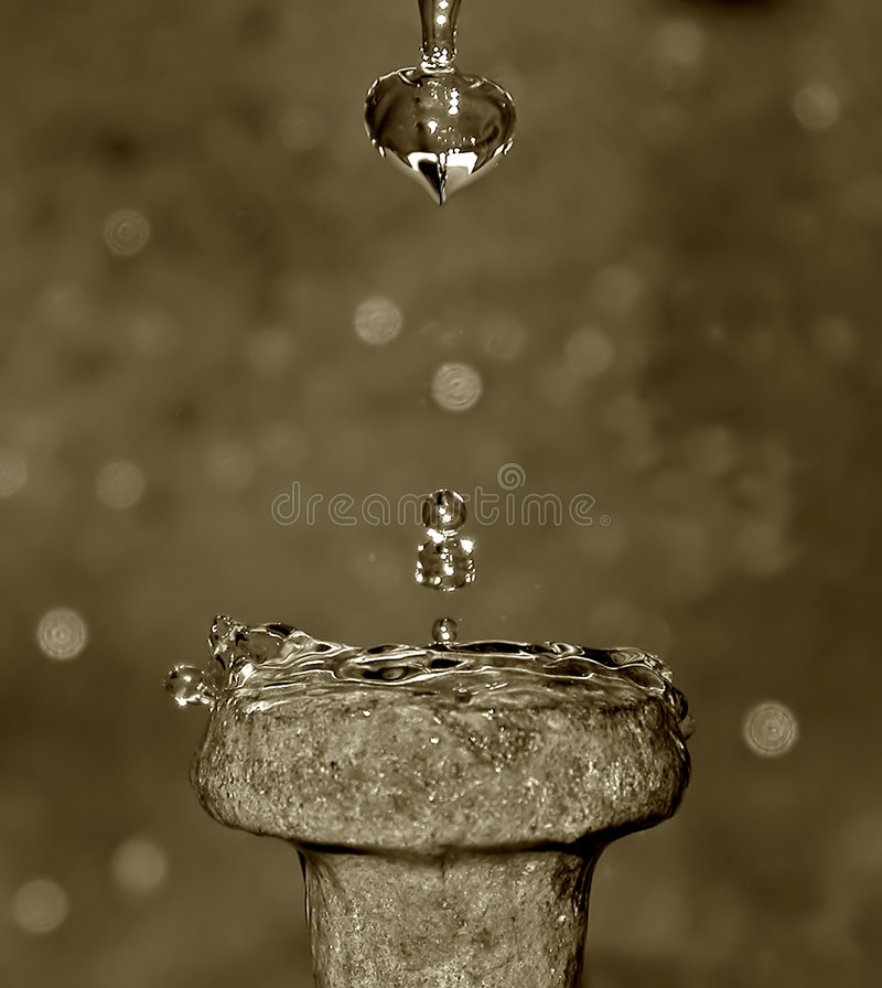 Download Drops of time stock photo. Image of spike, metal, water, time - 5962