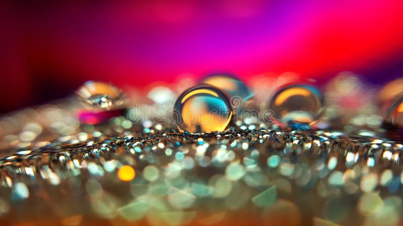 Colorful drops. stock photos