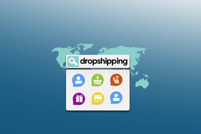 Dropshipping Come i suoi impianti? illustrazione di stock