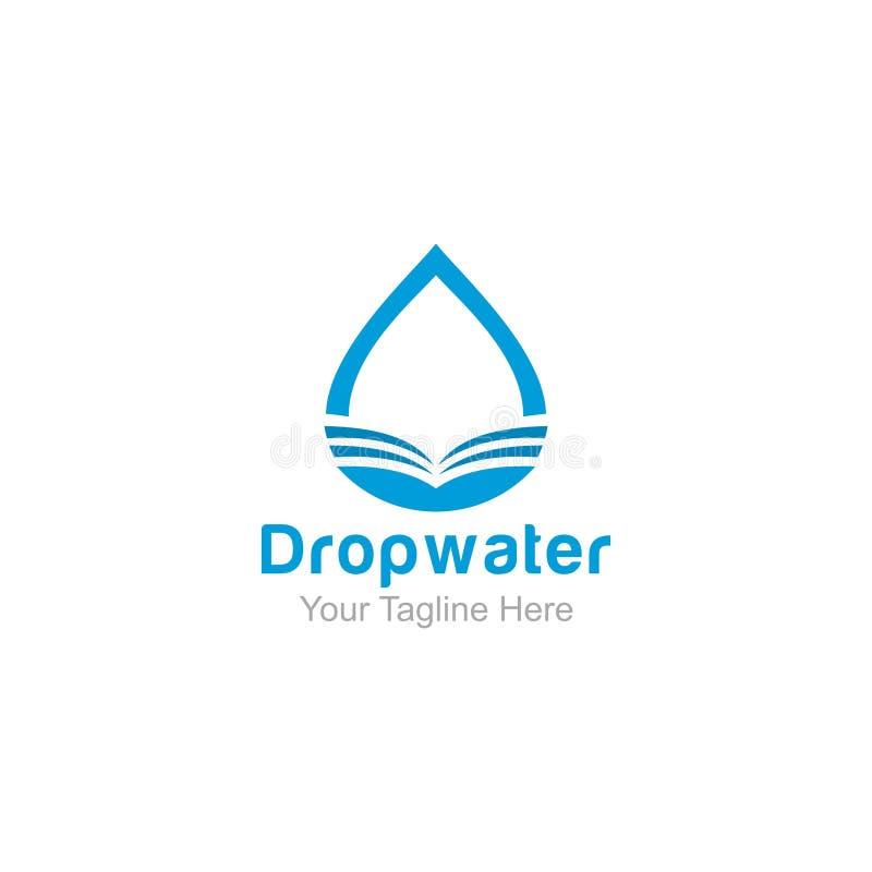Dropwater-Logo-Entwurf Inspiration moderne Schablone des Logos stock abbildung
