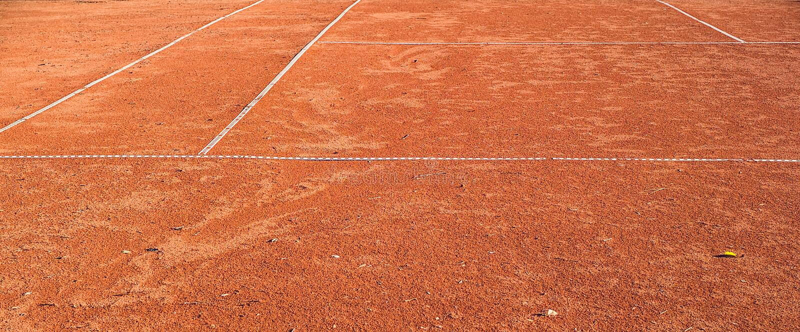Dross tennis court. Closeup view royalty free stock photos