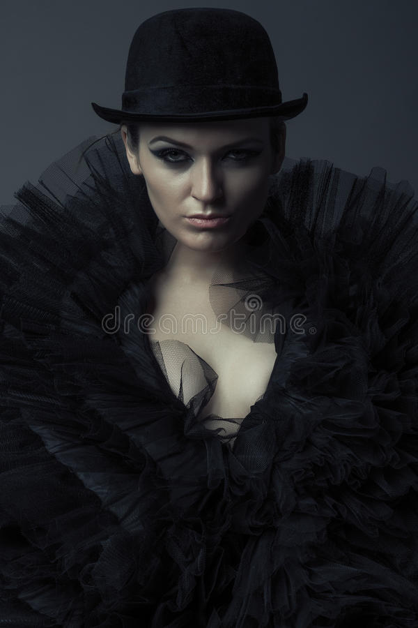 Drottning av mörker royaltyfria bilder