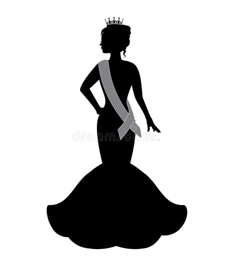 Drottning av skönhet royaltyfri illustrationer