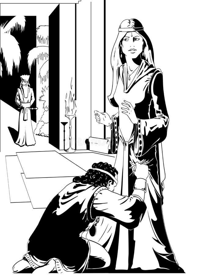Drottning Esther stock illustrationer