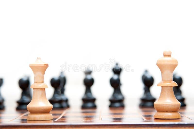 drottning för schackkonungstycken arkivfoto