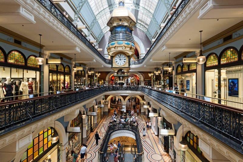 Drottning Victoria Building Shopping Galleries, Sydney, Australien royaltyfri fotografi