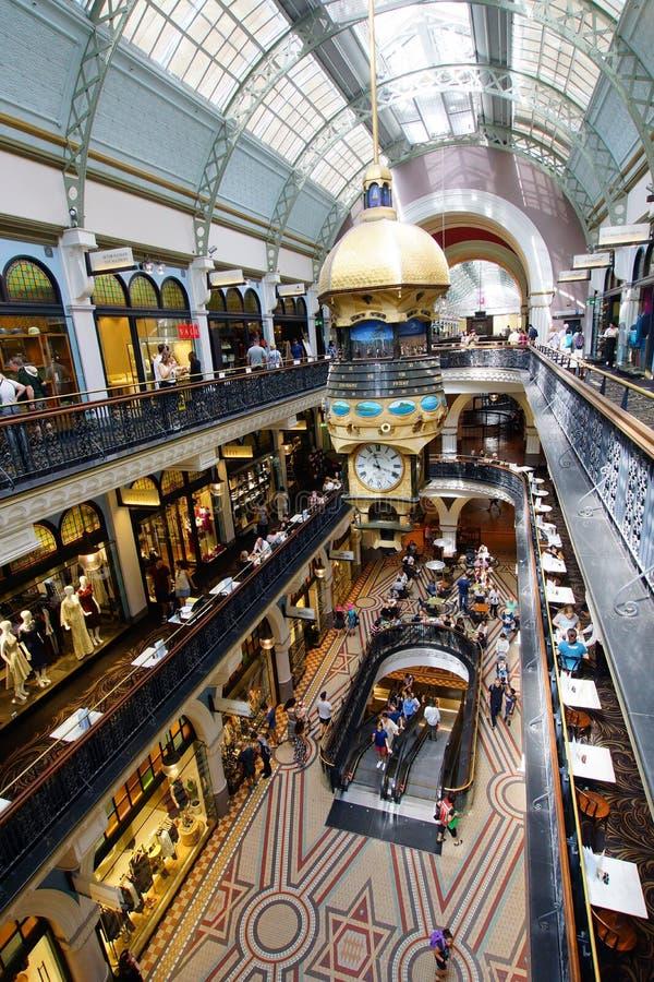 Drottning Victoria Building Shopping Galleries, Sydney, Australien arkivbilder