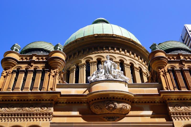Drottning Victoria Building, Sydney, Australien royaltyfri fotografi