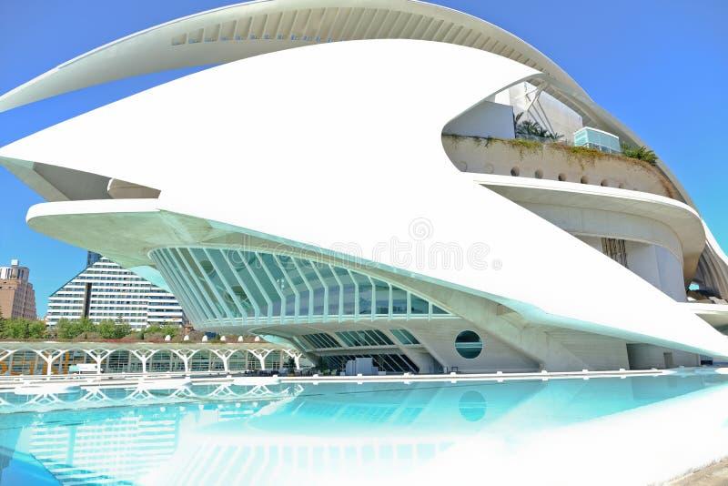 Drottningen Sofia Palace av konsterna, operahus i Valencia, Spanien royaltyfri fotografi