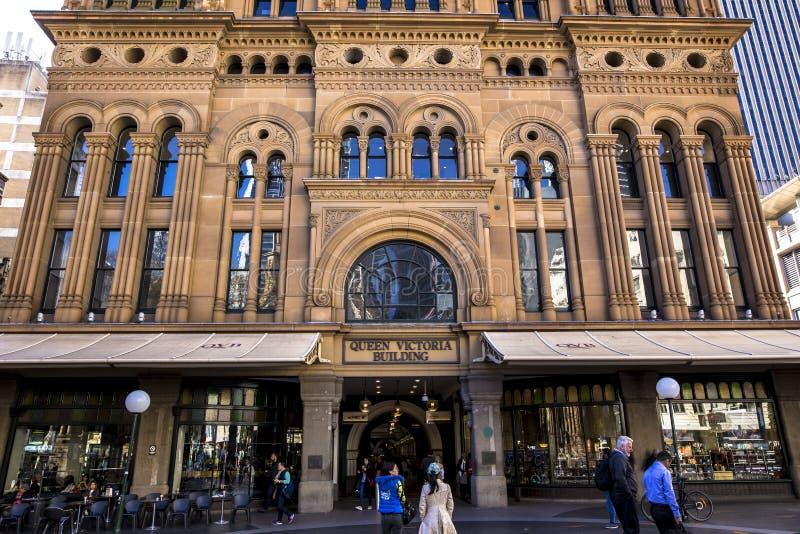 Drottningen Victoria Building är ett utstående exempel av de storslagna återförsäljnings- byggnaderna från denfederation eran i A royaltyfria bilder