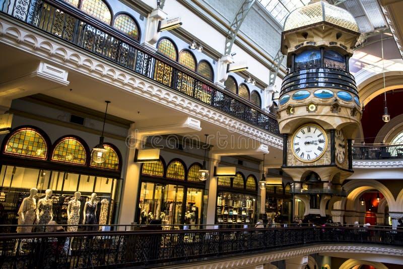 Drottningen Victoria Building är ett utstående exempel av de storslagna återförsäljnings- byggnaderna från denfederation eran i A arkivfoto