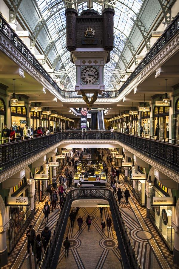 Drottningen Victoria Building är ett utstående exempel av de storslagna återförsäljnings- byggnaderna från denfederation eran i A arkivbilder