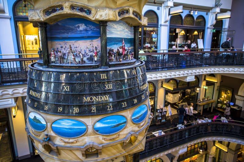 Drottningen Victoria Building är ett utstående exempel av de storslagna återförsäljnings- byggnaderna från denfederation eran i A royaltyfria foton