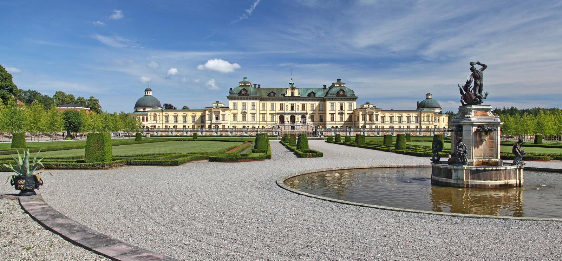 Drottningholm,斯德哥尔摩 库存照片