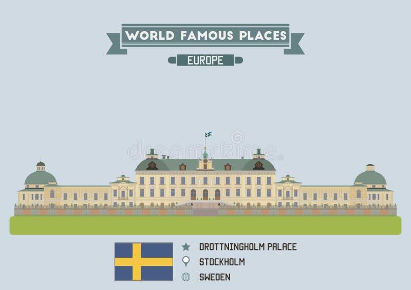 drottningholm pałac Stockholm stockholm ilustracji