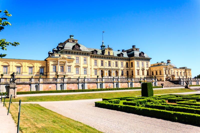 Drottningholms slott (pałac królewski) obrazy stock