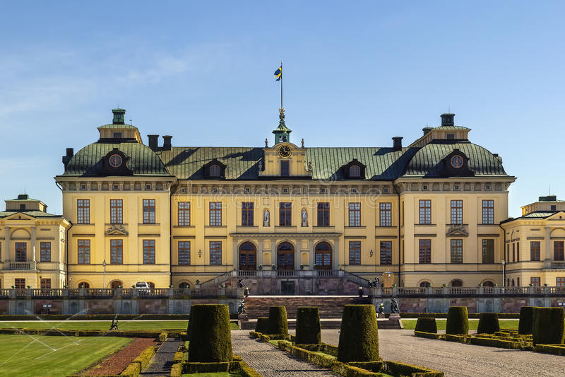drottningholmslott stockholm arkivbilder