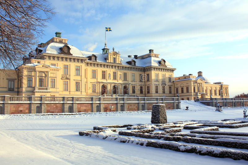 drottningholmslott sweden royaltyfria foton
